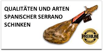 Qualitäten und arten von Spanischer Jamon Serrano Schinken