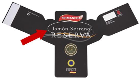 Serrano Schinken Label