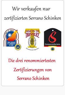 Zertifizierter Serrano Schinken
